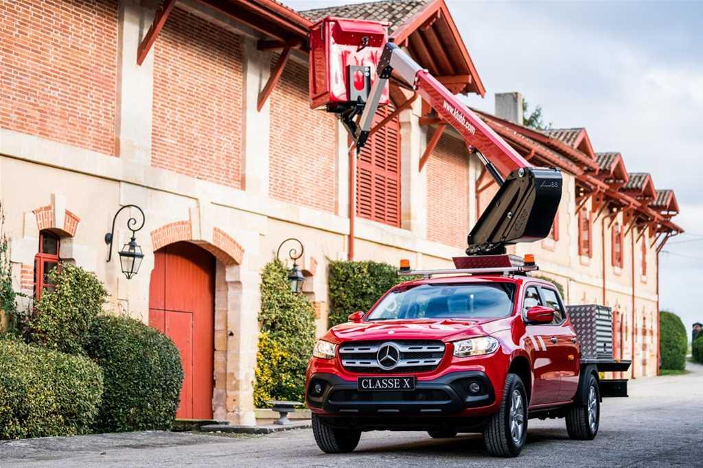 K26 sur pick-up Mercedes Classe X